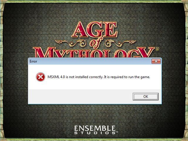 msxml 4.0 for age of empires 3